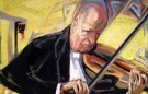 Paul Hindemith with viola II, 1950 's, Oil on Canvas