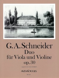 BP 1206 • SCHNEIDER Duo op.30 for viola and violine