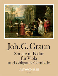 BP 1794 • GRAUN J.G. Sonate in B-dur [Erstdruck] - Part.u.St