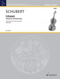 ED 10412 • SCHUBERT - Litany for All Souls Day - Partitur und