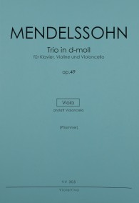 VV 305 • MENDELSSOHN - Piano trio in d-min, Va inst. of Vc