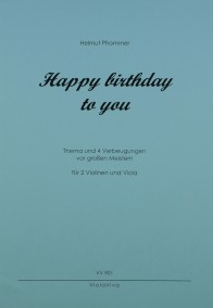 VV 901 • PFROMMER - Happy birthday to you C-Dur - Stimmen (