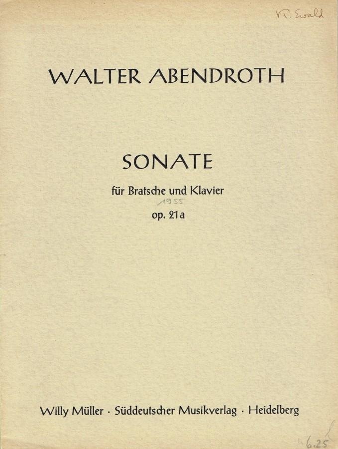 Sonate, op. 21a, für Bratsche und Klavier