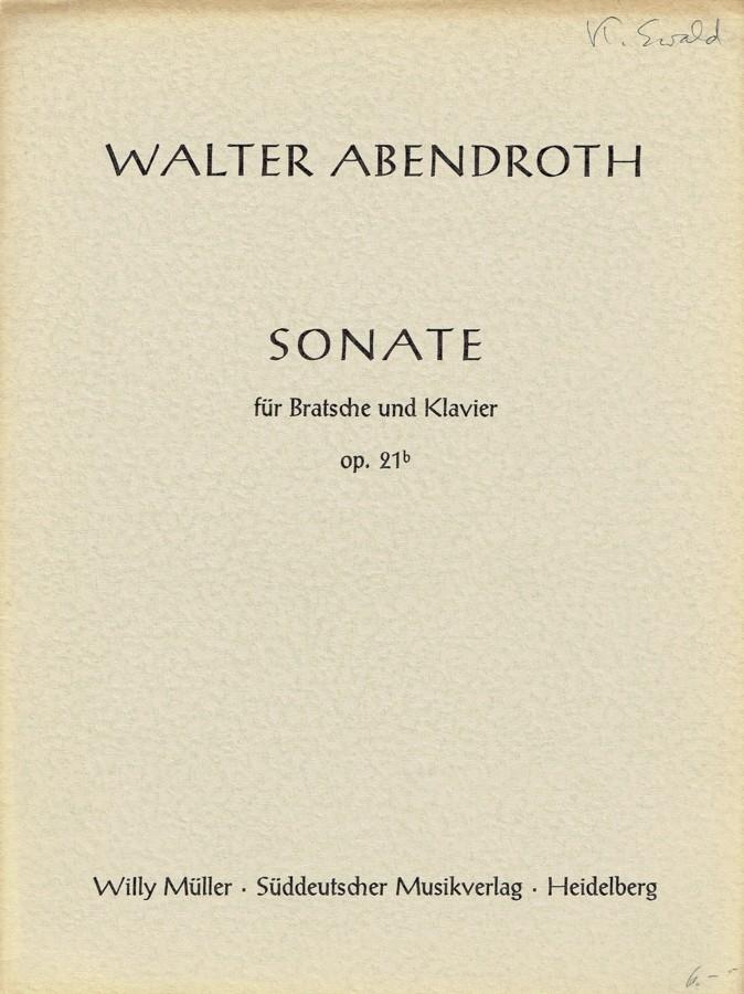 Sonate, op. 21b, für Bratsche und Klavier