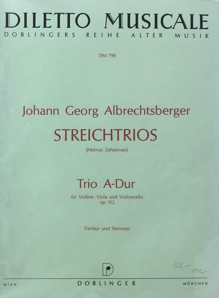 Trio A-dur, op. 9, Nr. 2 für Violine, Bratsche und Violoncello
