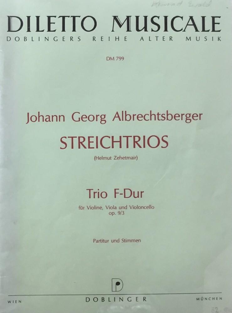 Trio F-dur, op. 9, Nr. 3, für Violine, Bratsche und Violoncello