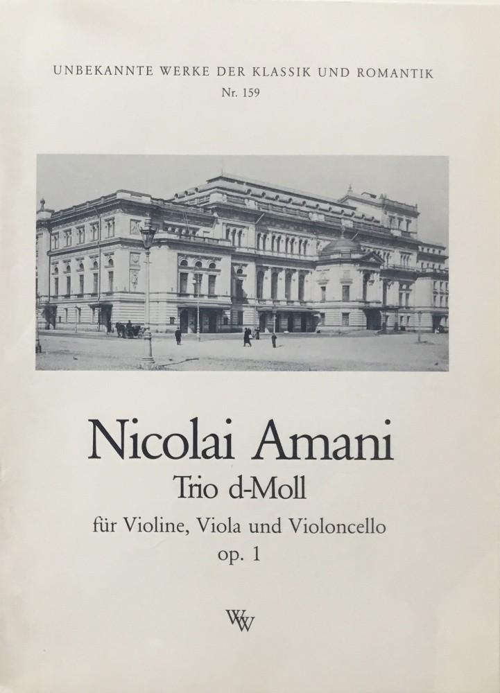 Trio d-minor, op. 1, for Violin, Viola and Violoncello