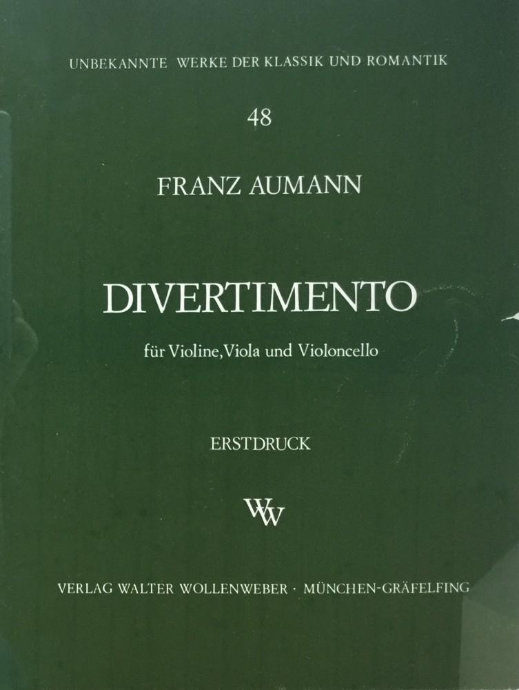 Divertimento G-dur, für Violine, Bratsche und Violoncello