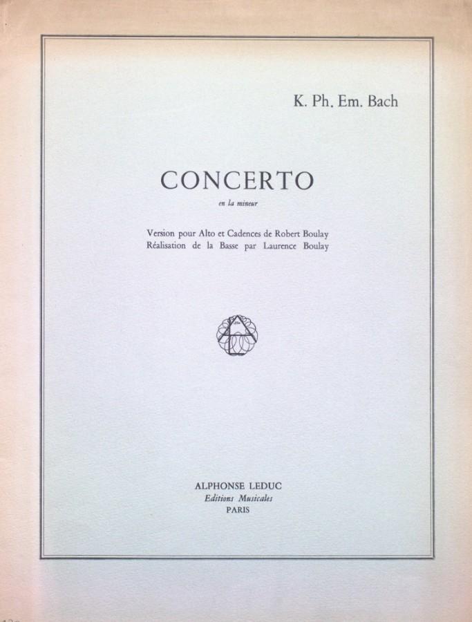 Konzert a-moll, Wq 170, für Bratsche und Orchester