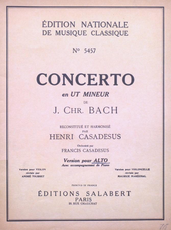 Konzert c-moll, für Bratsche und Orchester