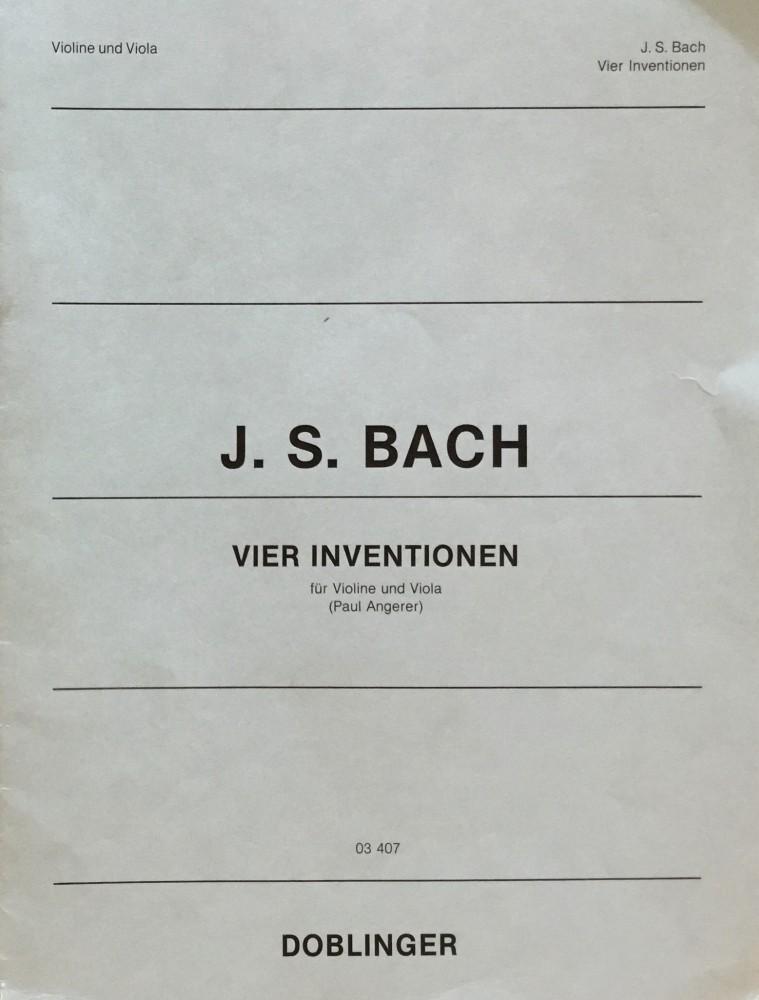 4 Inventionen, für Violine und Bratsche