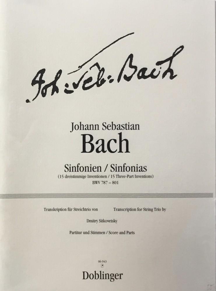 Sinfonien. 15 dreistimmige Inventionen (BWV 787-801), für Violine, Bratsche und Violoncello