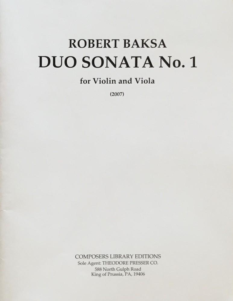 Duo Sonata I, für Violine und Bratsche