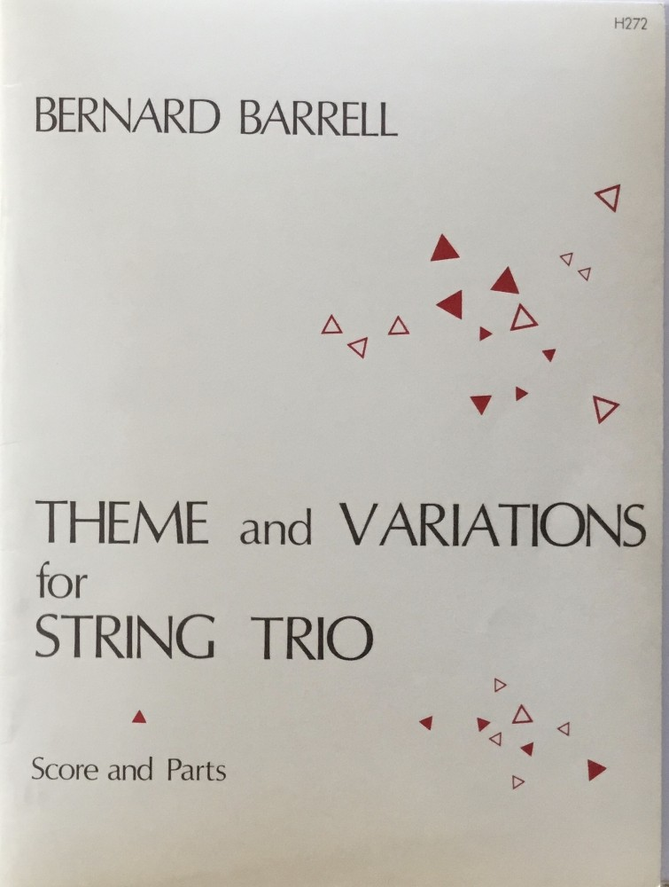 Theme and Variations, op. 72, Nr. 1, für Violine, Bratsche und Violoncello