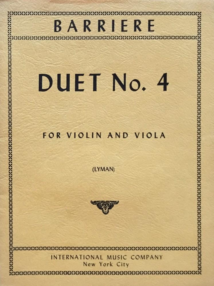 Duett (Nr. 4) G-dur, für Violine und Bratsche