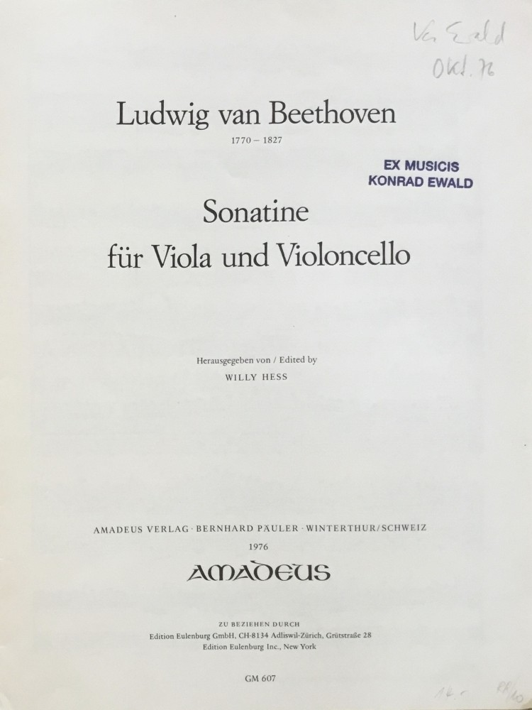 Sonatine C-dur, für Bratsche und Violoncello
