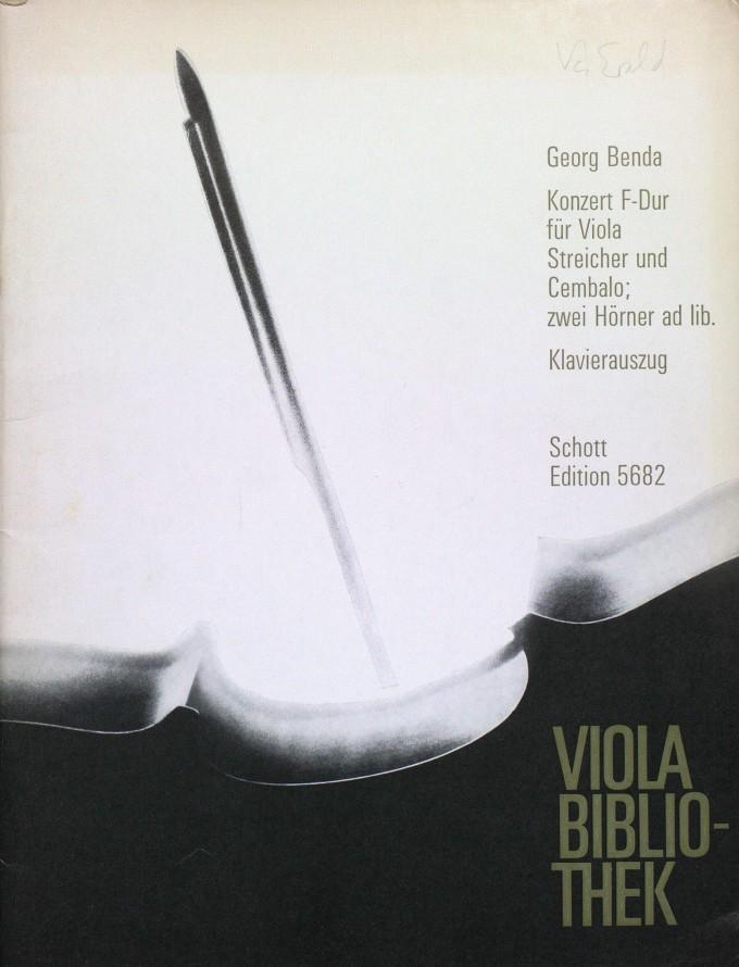 Konzert F-dur, für Bratsche, 2 Hörner, Streicher und Basso continuo