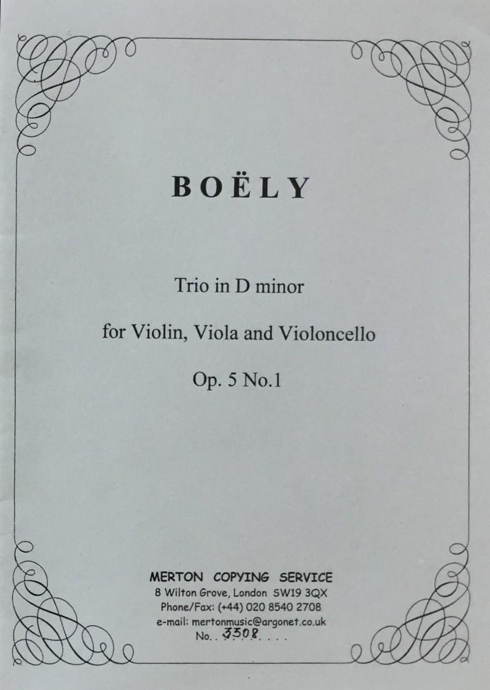 Trio (d/D), op. 5, Nr. 1, für Violine, Bratsche und Violoncello