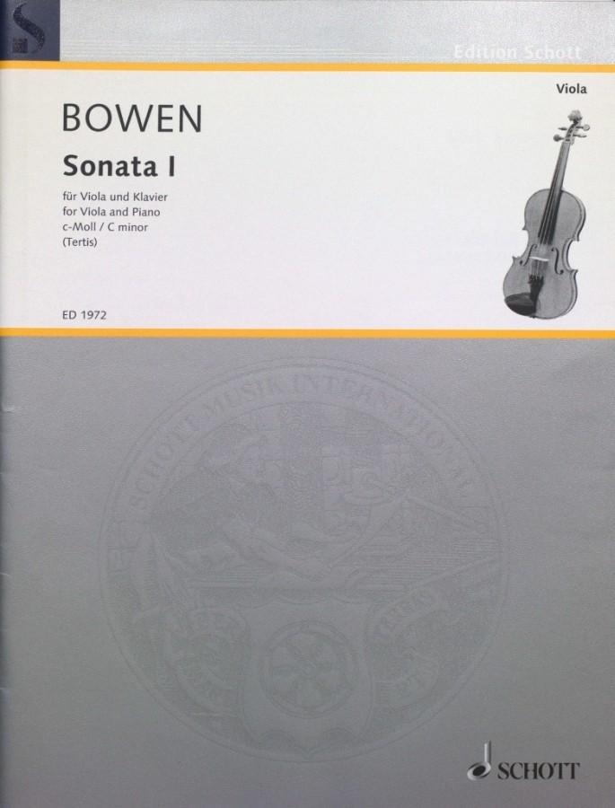 1. Sonate c-moll, op. 18, für Bratsche und Klavier