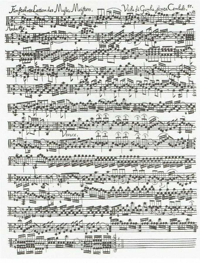 Sonata D-dur (aus «Der getreue Musicmeister») für Bratsche