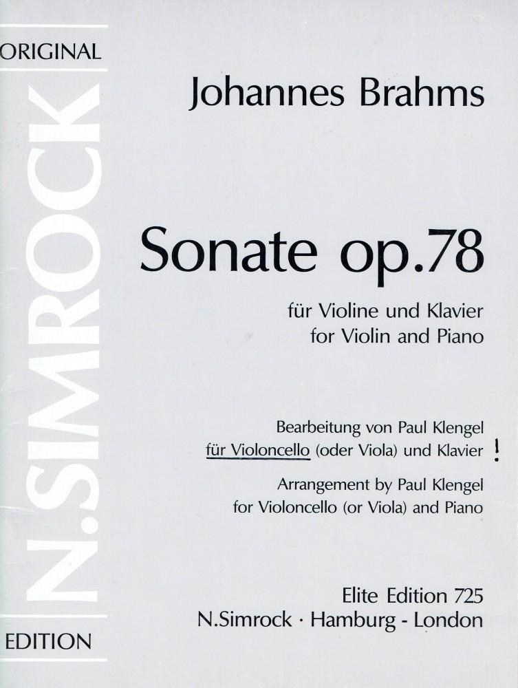 Sonate G-dur, op. 78, für Violine und Klavier, arrangiert für Bratsche und Klavier