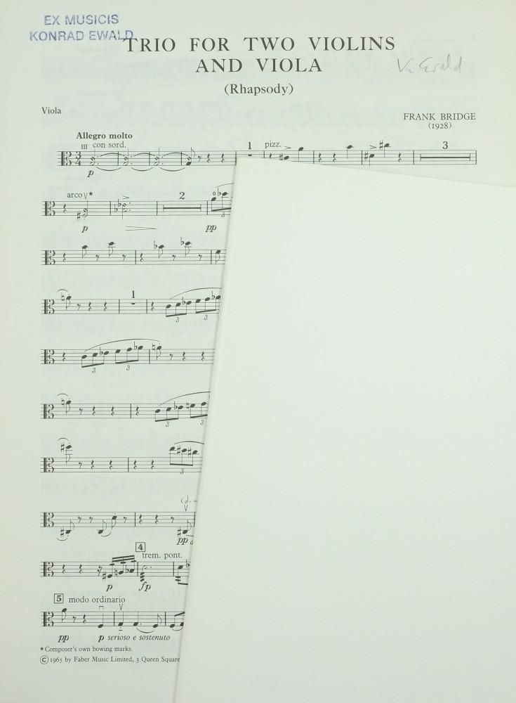Trio (Rhapsody), für 2 Violinen und Bratsche