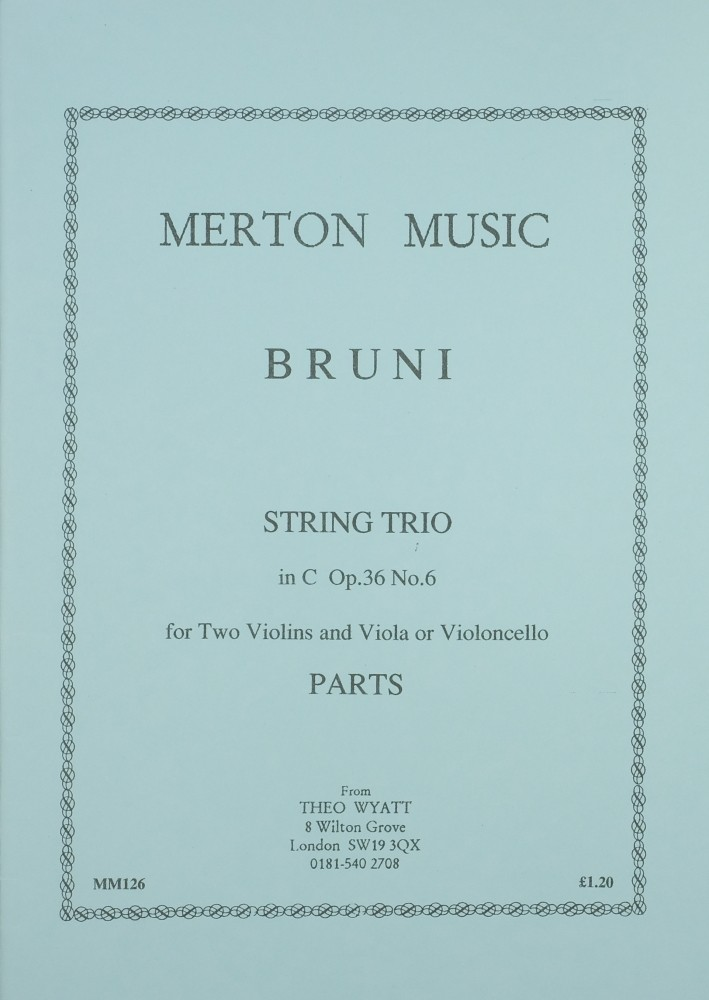 6 Trios (Es/Bb/d/F/g/C), op. 36, for 2 Violins and Viola (Violoncello)