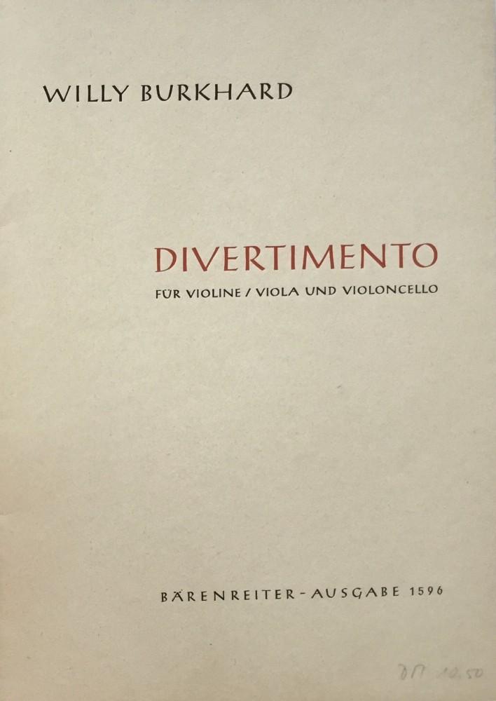 Divertimento, op. 95, für Violine, Bratsche und Violoncello