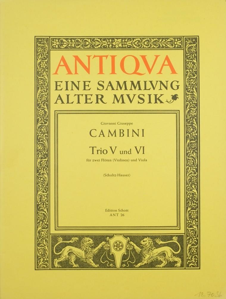 Trios 5 und 6 (F/A), für 2 Flöten (2 Violinen) und Bratsche