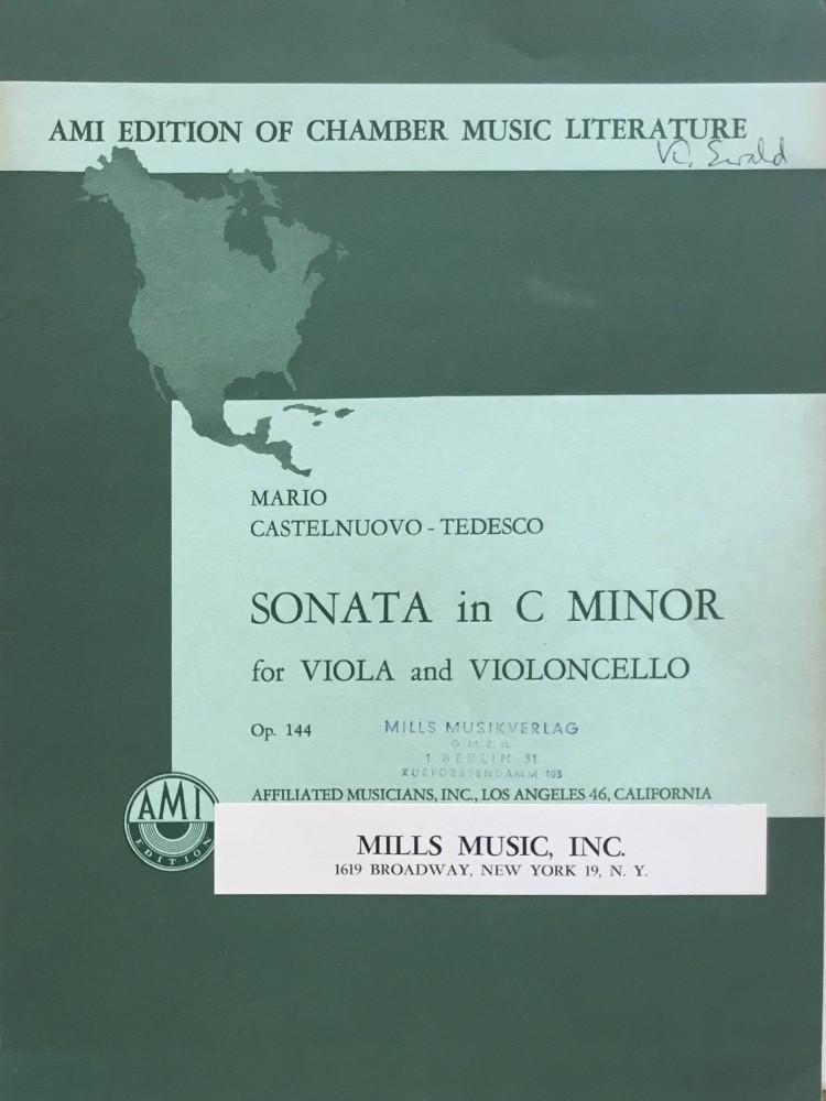 Sonate c-moll, op. 144, für Bratsche und Violoncello