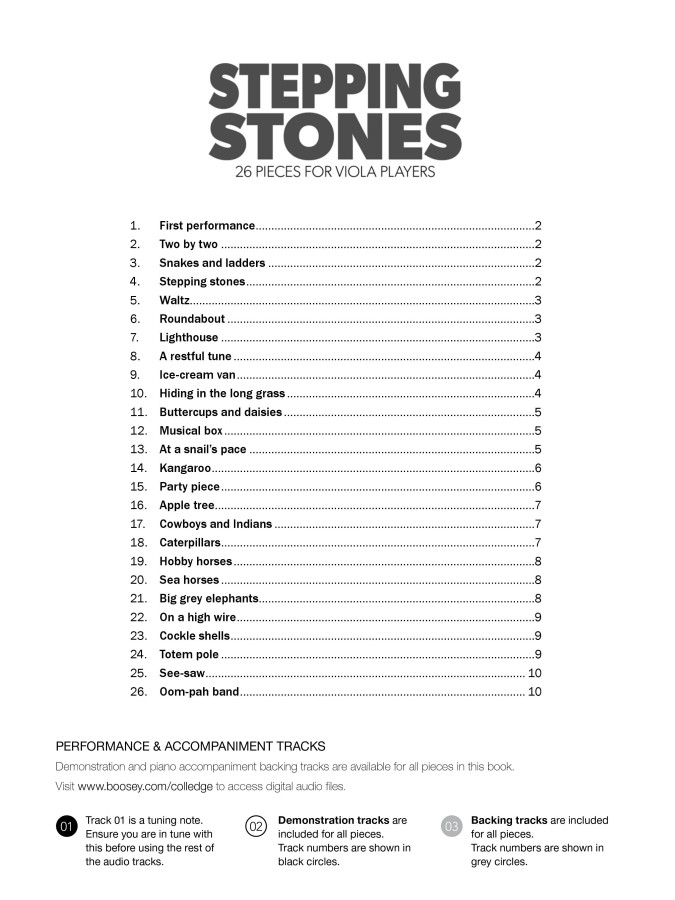 Stepping Stones, für Bratsche und Klavier