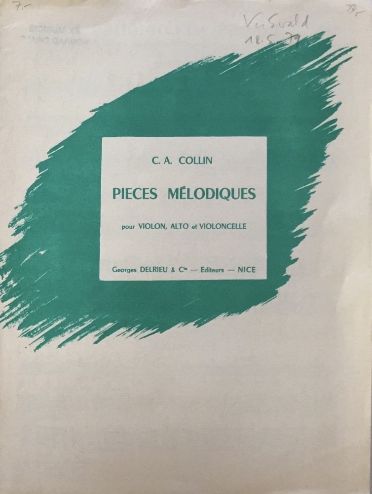 Pièces mélodiques I, für Violine, Bratsche und Violoncello
