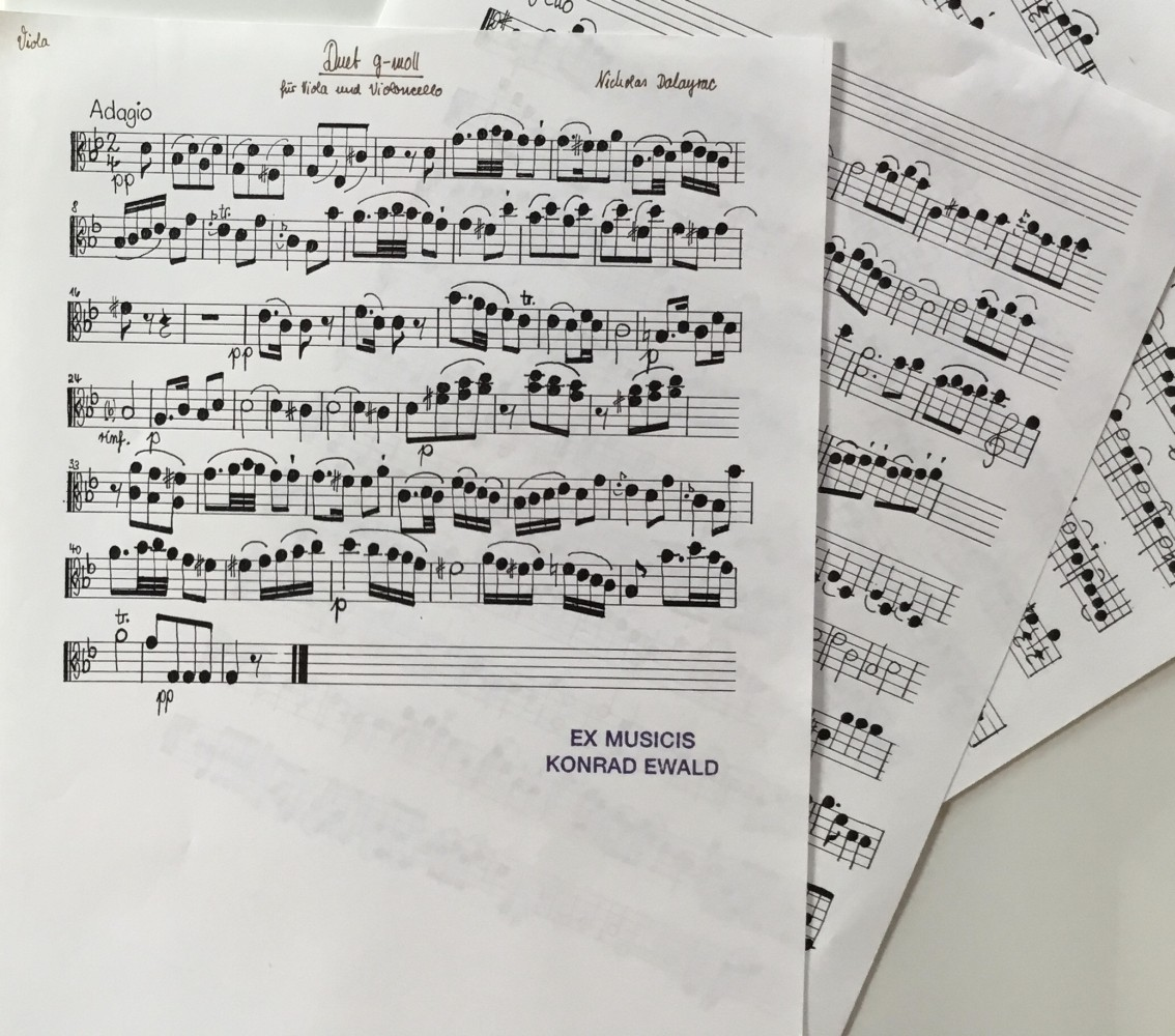 Duett g-moll, für Bratsche und Violoncello