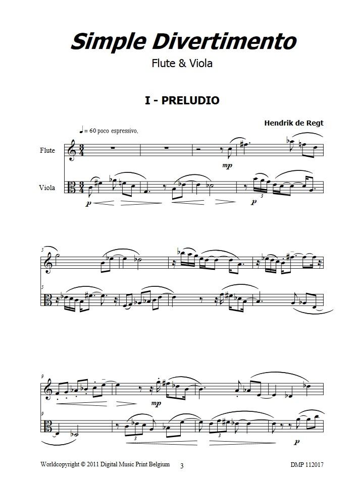 Simple Divertimento, für Flöte und Bratsche