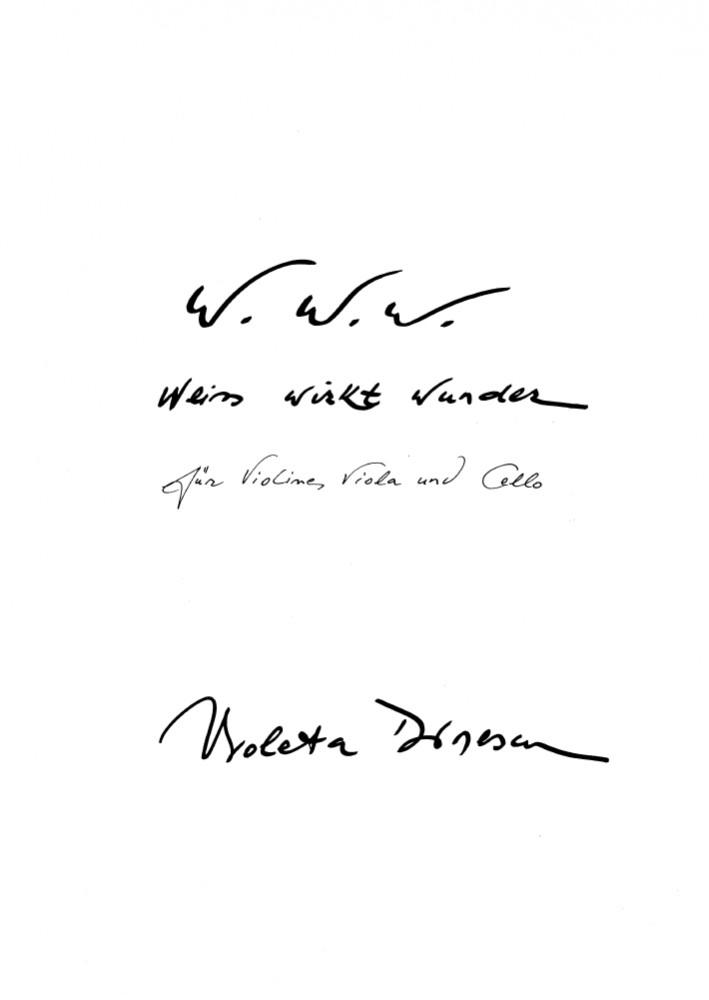 Trio, für Violine, Bratsche und Violoncello