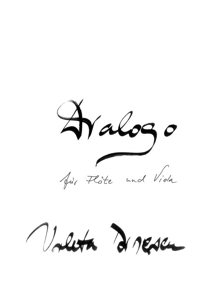 Dialogo, für Flöte (Klarinette) und Bratsche