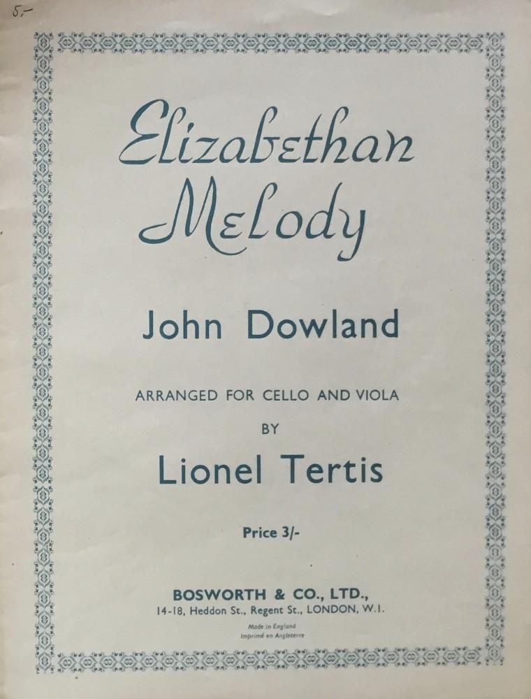 Elizabethan Melody, für Violoncello und Bratsche
