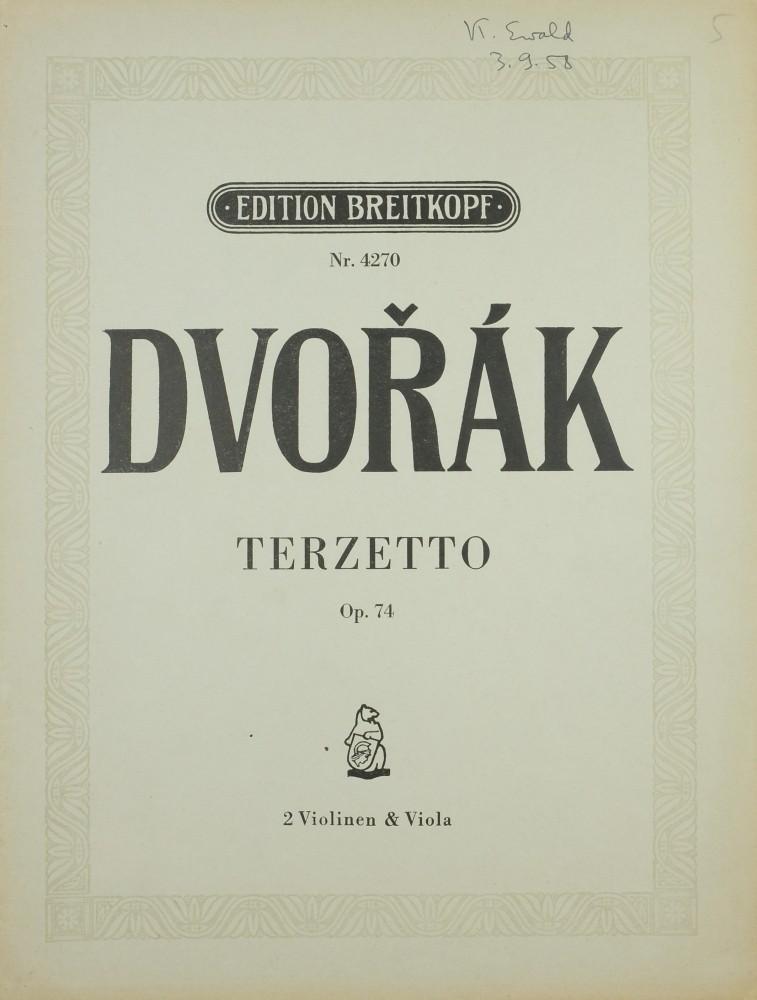 Terzett C-dur, op. 74, für 2 Violinen und Bratsche