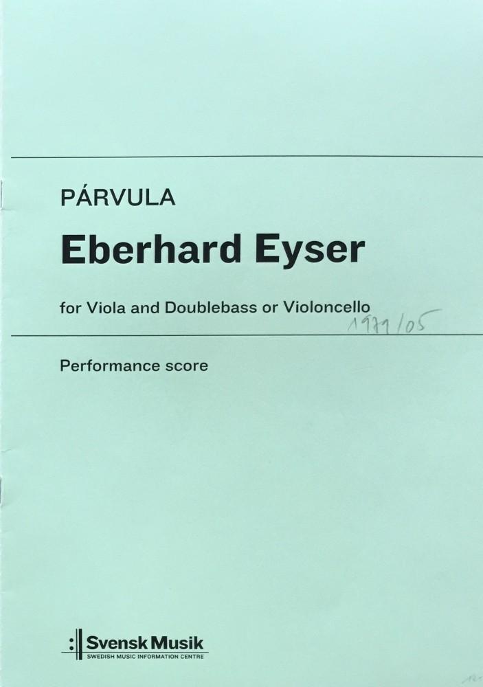 Párvula, für Bratsche und Kontrabass (Violoncello)