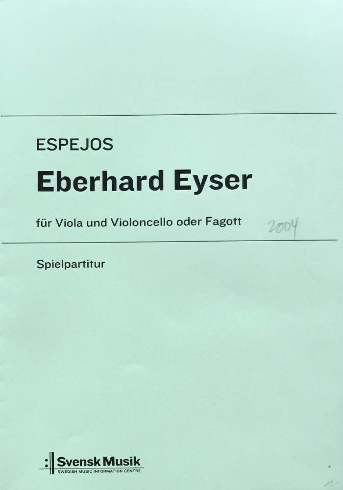 Espejos, für Bratsche und Violoncello (Fagott)