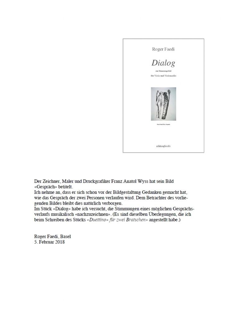Dialog, für Bratsche und Violoncello