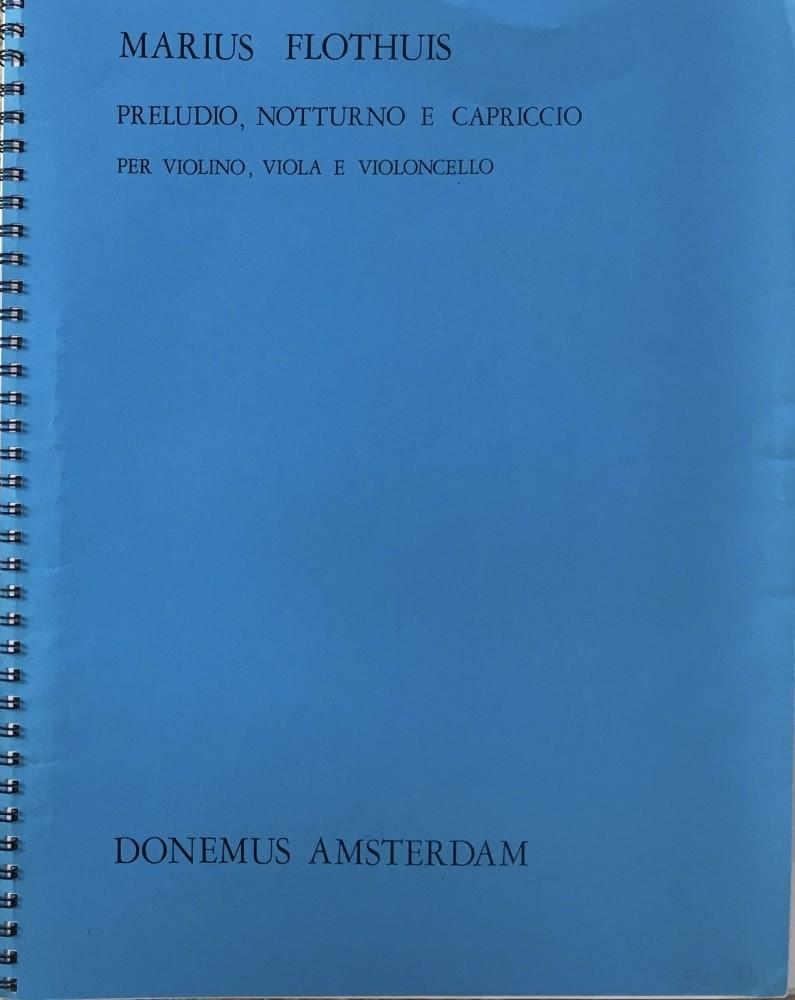 Preludio, Notturno e Capriccio, op. 91, für Violine, Bratsche und Violoncello