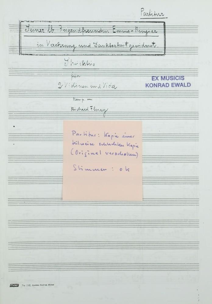 Streichtrio für 2 Violinen und Bratsche