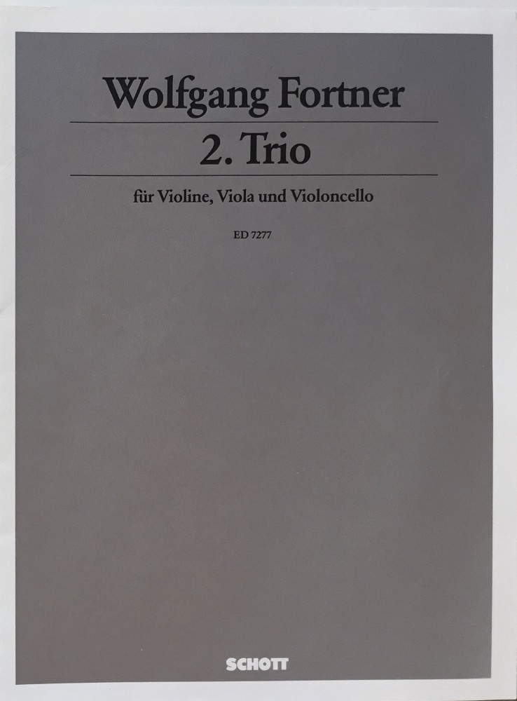 2. Trio für Violine, Bratsche und Violoncello