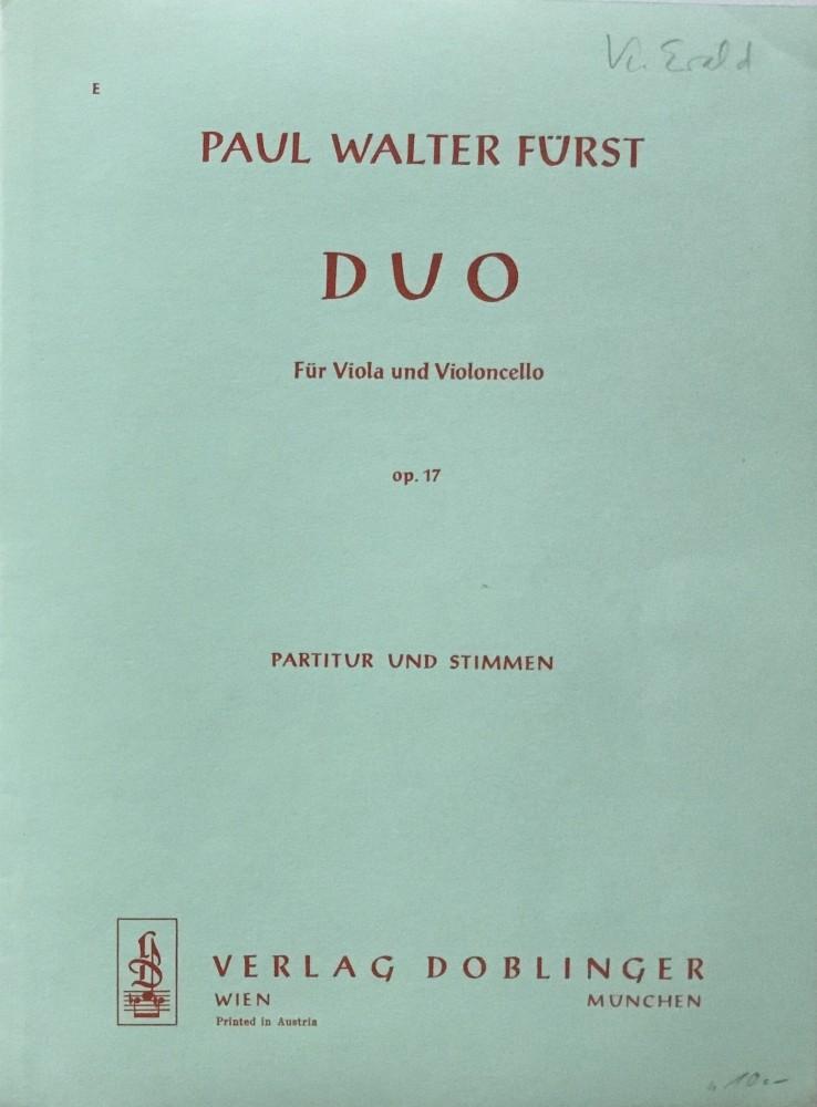 Duo, op. 17, für Bratsche und Violoncello