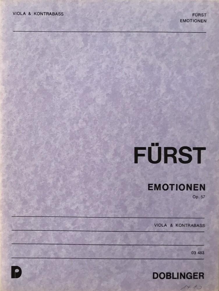 Emotionen, op. 57, für Bratsche und Kontrabass