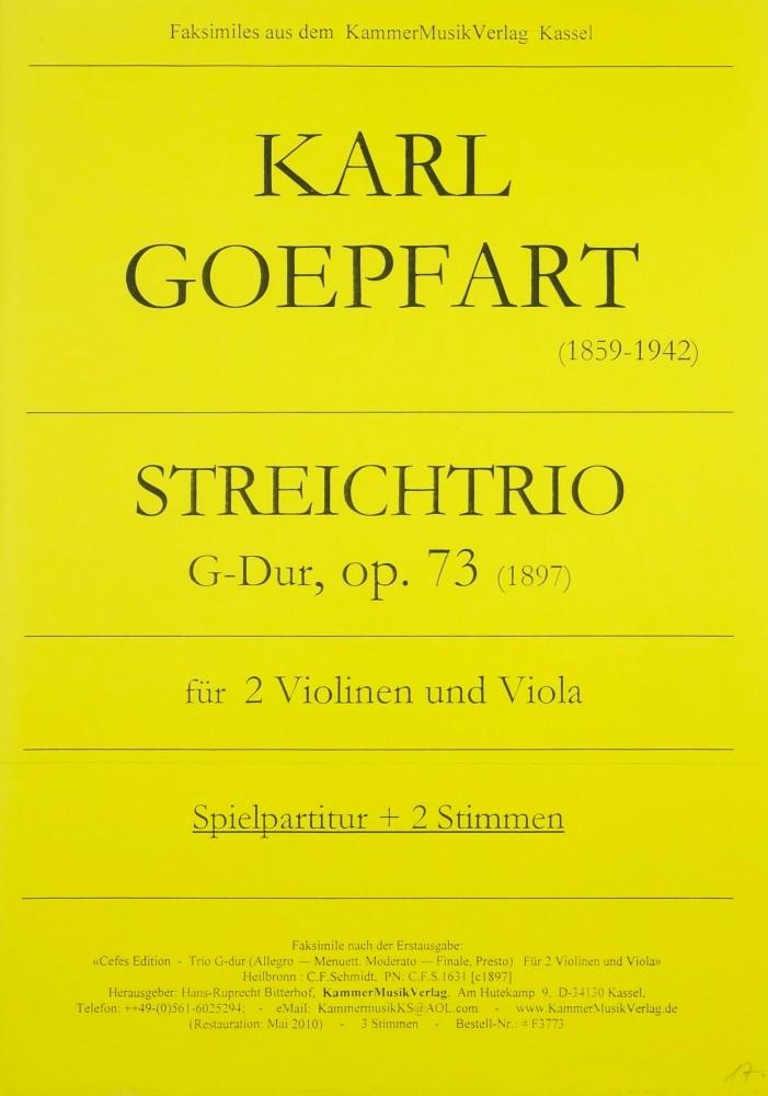 Streichtrio G-dur, op. 73, für 2 Violinen und Bratsche