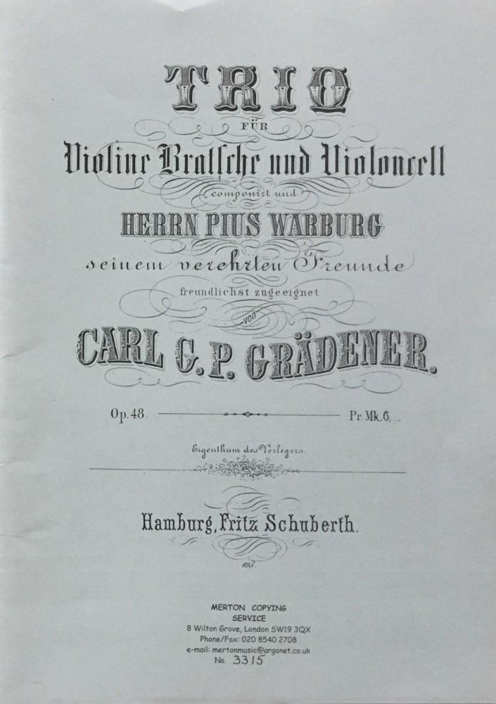 Trio g-moll, op. 48, für Violine, Bratsche und Violoncello