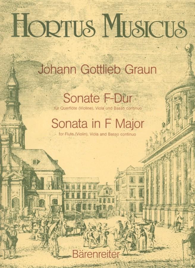 2. Sonate F-dur, GraunWV C:XV:83, für Bratsche und Cembalo (Klavier)
