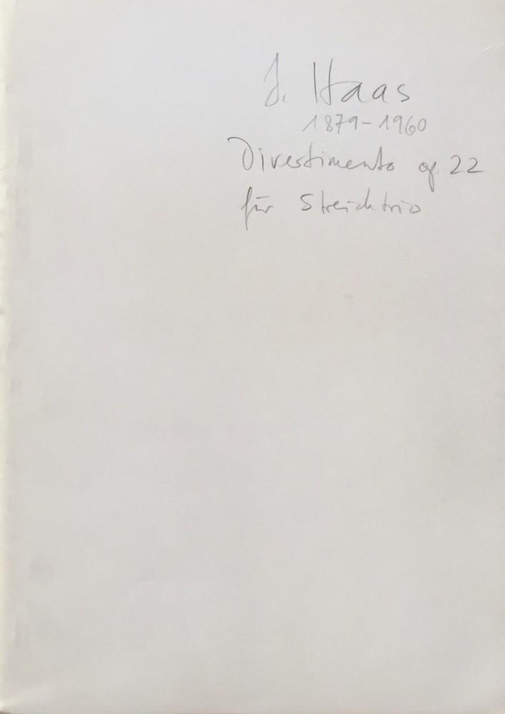 Divertimento, op. 22, für Violine, Bratsche und Violoncello